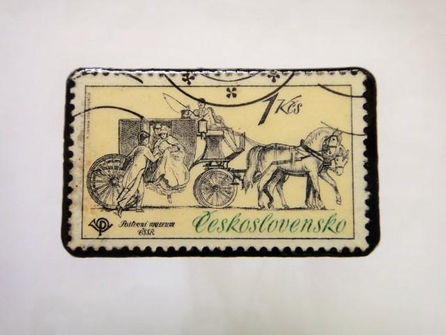チェコスロバキア 馬切手ブローチ1114