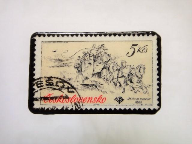 チェコスロバキア 馬切手ブローチ1115