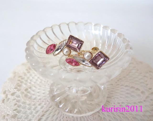 Cute! Pink bijour earing