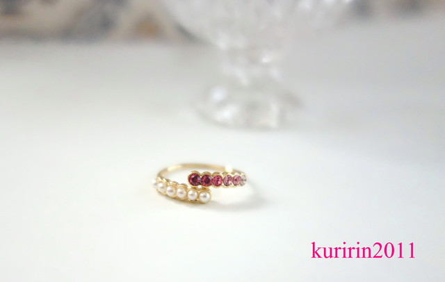 Cute! Pink bijour  ring