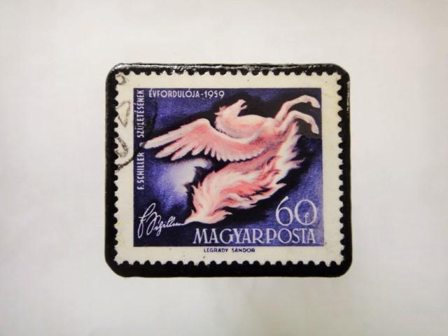 ハンガリー 馬切手ブローチ1128