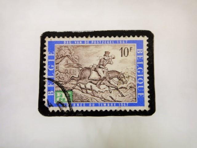ベルギー 馬切手ブローチ1129