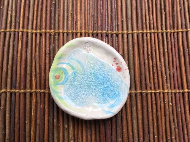 ガラス絵付け豆皿