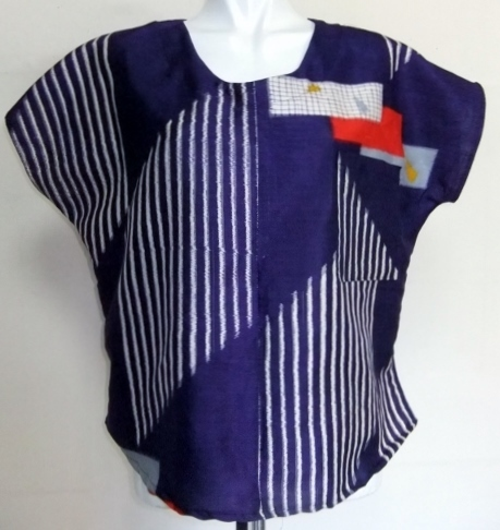 着物リメイク 銘仙の着物で作ったTシャツ  1441