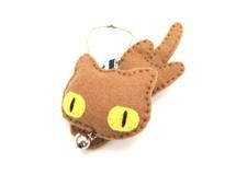 『にゃんこやかた』オリジナルキャラクター猫マスコット (茶)