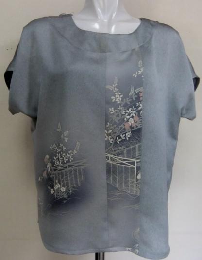 着物リメイク 訪問着で作ったTシャツ 1446