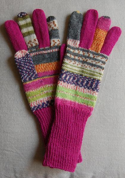 手編み5本指手袋 No.22【再販】
