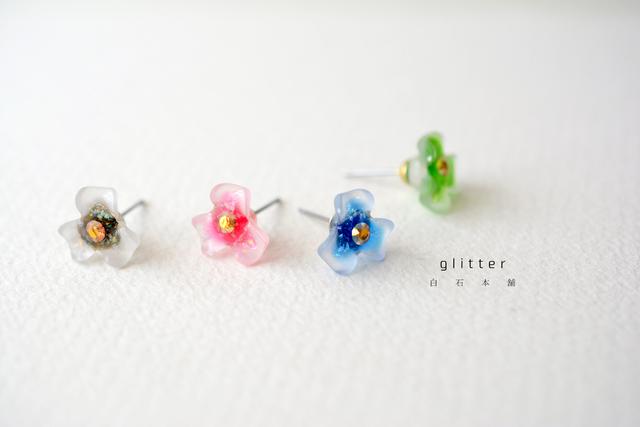 glitter(イヤリング/レジンアクセサリー)