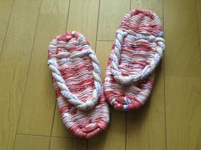 ☆送料込み☆ 布ぞうり 23cm ピンク系