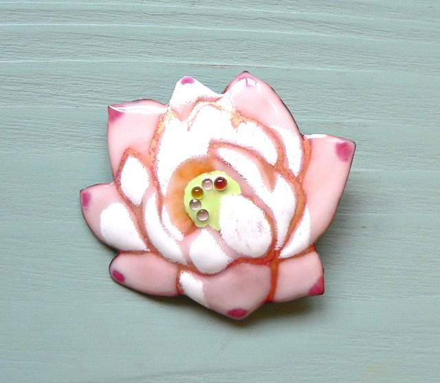 七宝焼・蓮の花(ピンク)