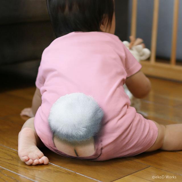 70cm/ ミミックロンパース・バニー/ ピンク