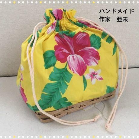 新春クリアランスセール★104 カゴ付きマルチ巾着袋