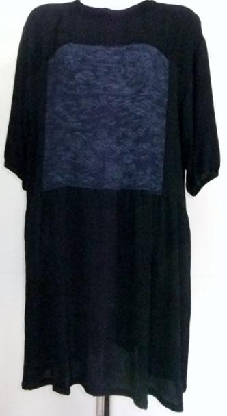 着物リメイク 縮緬の着物で作ったチュニックワンピース 1454