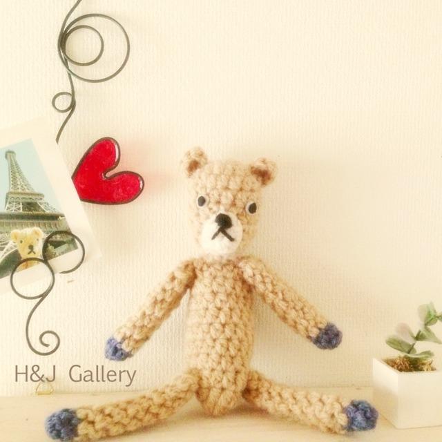 クマの編みぐるみ ベージュ