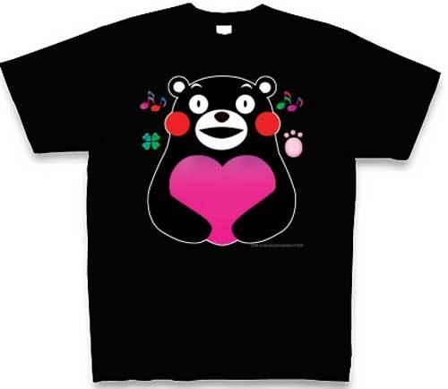 熊本応援 でっかいハートのくまモン Tシャツ   ハンドメイド ...