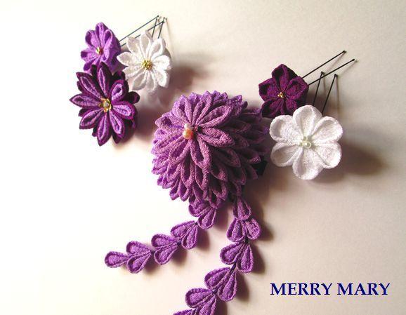 大輪 髪飾りセット <薄紫>【送料無料】