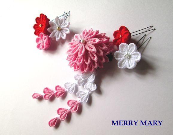 大輪 髪飾りセット <ピンク>【送料無料】