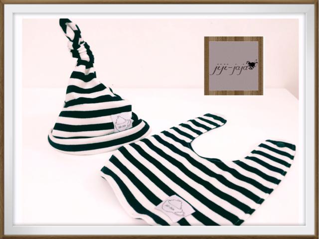 【送料無料】海辺のこびと帽子&スタイのセット