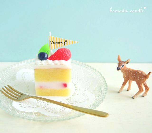 ミニケーキのキャンドル