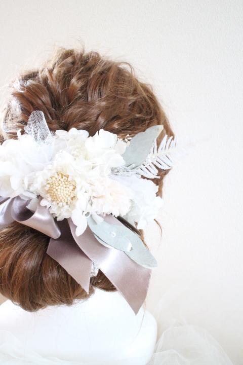 bride * head dress  #101 〔ピュアホワイトブライダルヘッドドレス〕