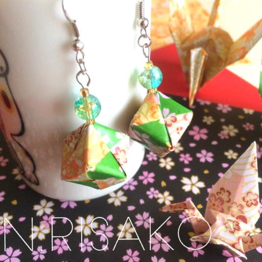 クリスマス 折り紙:折り紙 サイコロ-minne.com
