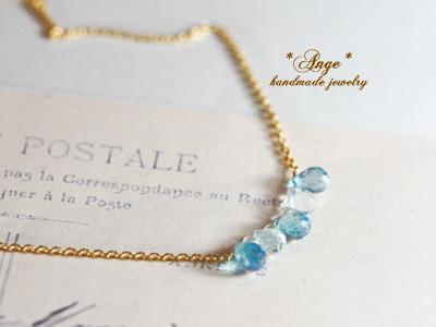 宝石質ブルーミスティックトパーズのネックレス