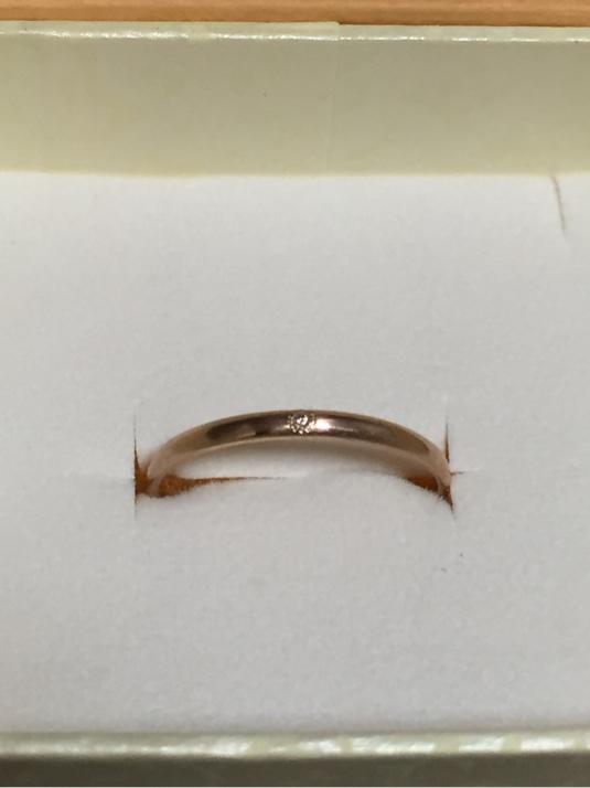 K10ピンクゴールド ダイヤリング  ミル留