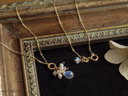 Royal blue moonstone necklace