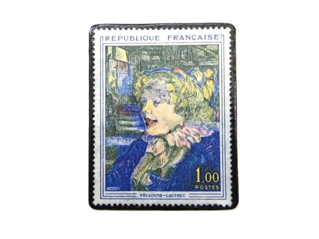 フランス1963年 「ロートレック」切手ブローチ 231