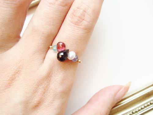 色んな石のリング(k14gf)