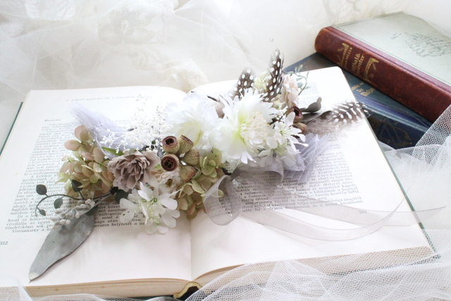 bride * head dress  #102 〔ピュアホワイトブライダルヘッドドレス〕