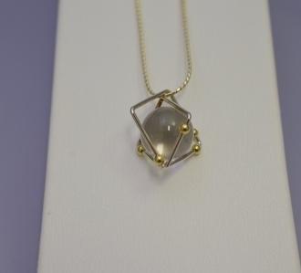 SV/K18水晶ネックレス・宇宙2