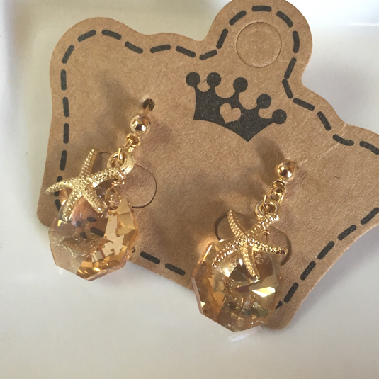 swarovski x starfish earrings