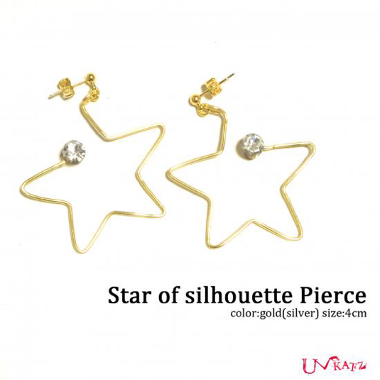 Ukatz NO.425-2 star of silhouette ピアス