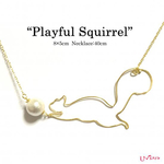 """playful Squirrel""ネックレス"