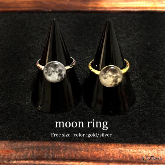 Ukatz NO.243-2 moon ring