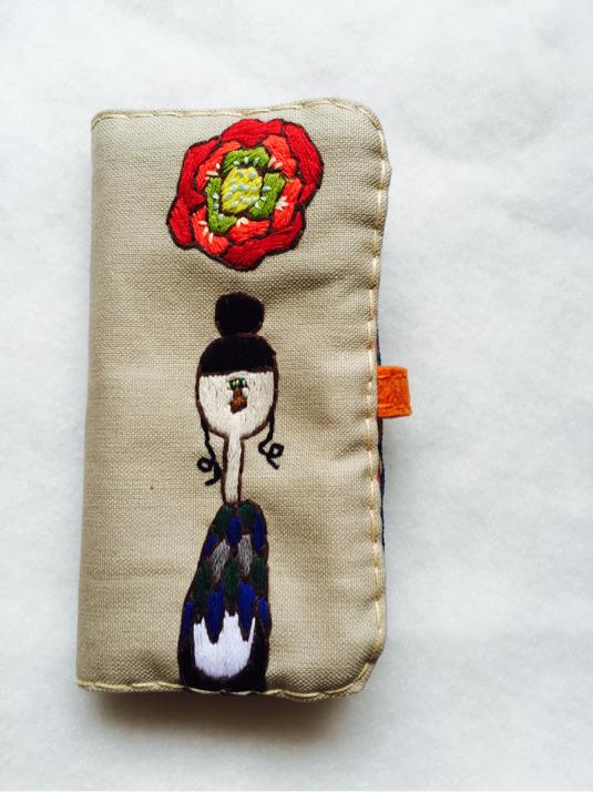 iphone6/6s対応 手帳型 携帯カバー 牡丹さん