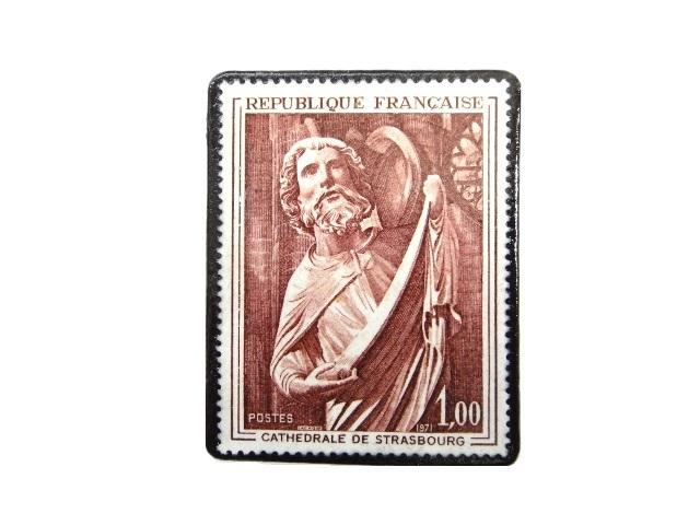 フランス1971年 切手ブローチ 239