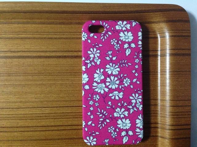iphone5/5s*カペル*濃ピンク*リバティ*カバー・スマホケース