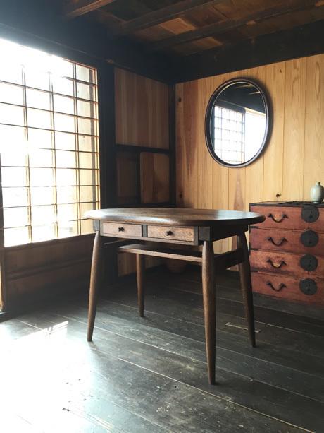 アンティーク風そら豆型テーブル ビーンズミニテーブル【受注生産】