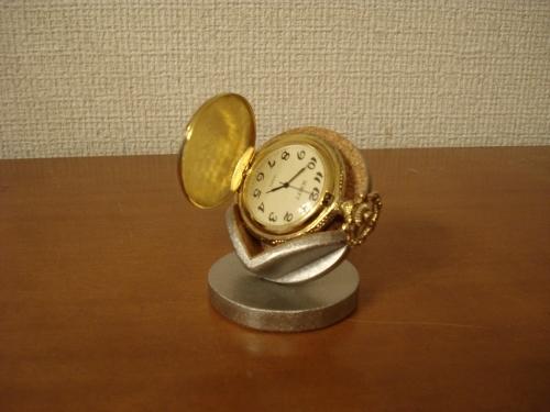 懐中時計スタンド 父の日に 横向き懐中時計蓋開きディスプレイスタンド