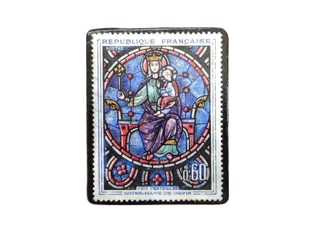 フランス1964年 切手ブローチ 241