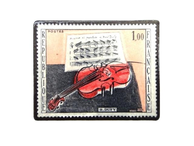 フランス1965年 切手ブローチ 242