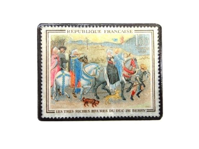 フランス1965年 切手ブローチ 246