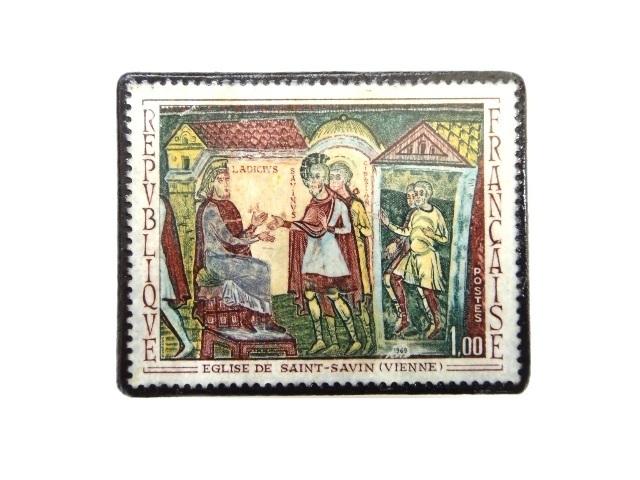 フランス1969年 切手ブローチ 247