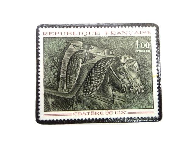 フランス1966年 切手ブローチ 252