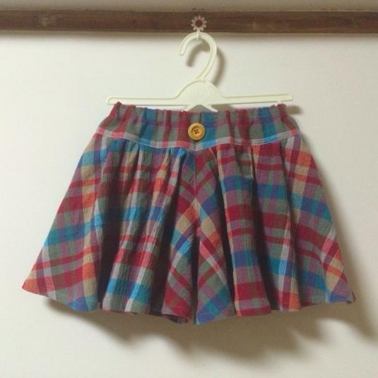 スカートみたいなひらひらキュロット 90
