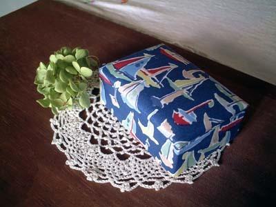 リバティDebben紺布箱/Lサイズ