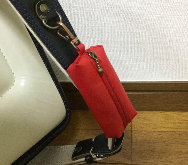ランドセルキーケース☆赤無地ラミネート