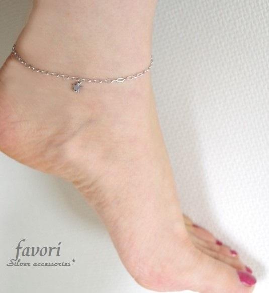 【再販】Silver製 glamorous chainアンクレット